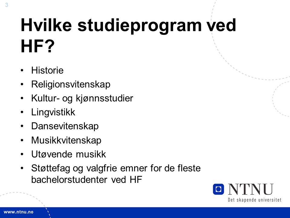 3 Hvilke studieprogram ved HF.
