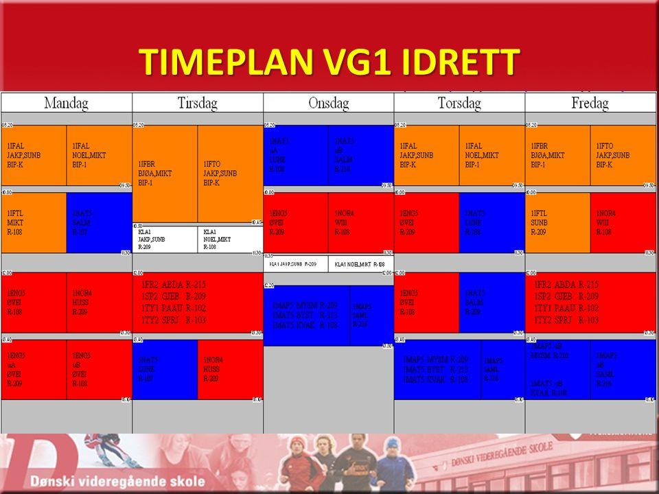 TIMEPLAN VG1 IDRETT