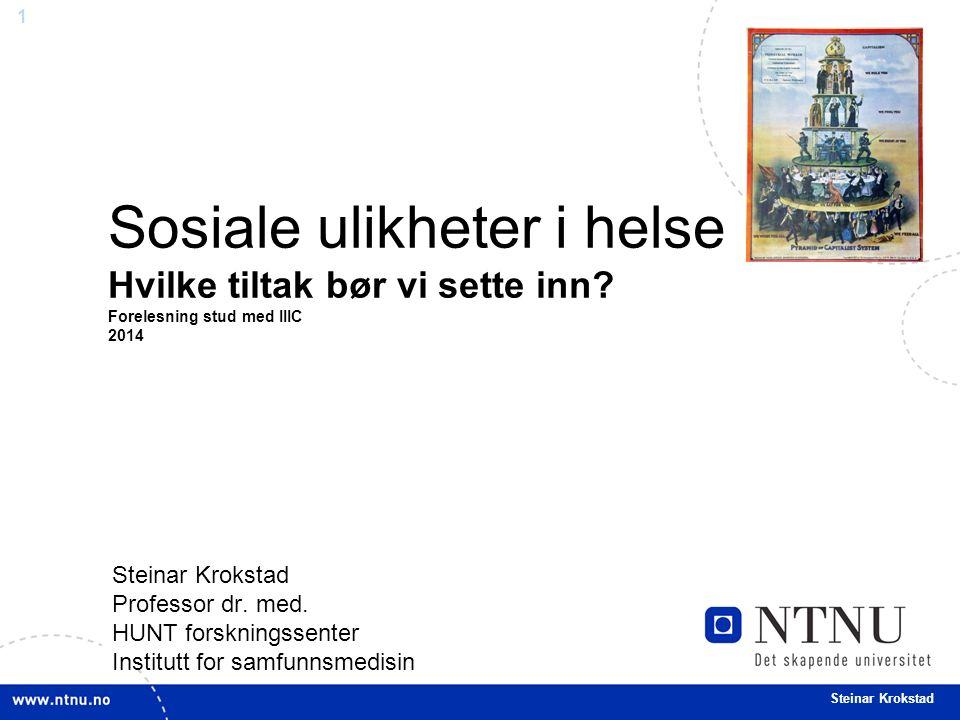 1 Steinar Krokstad Professor dr. med.