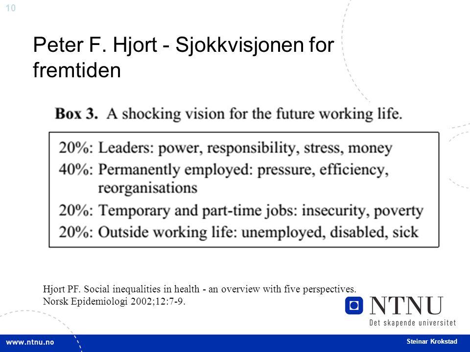 10 Steinar Krokstad Peter F. Hjort - Sjokkvisjonen for fremtiden Hjort PF.