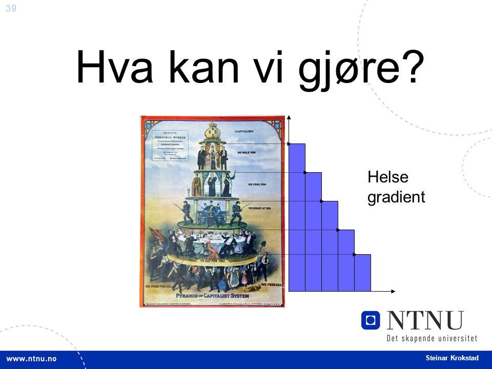 39 Steinar Krokstad Helse gradient Hva kan vi gjøre?