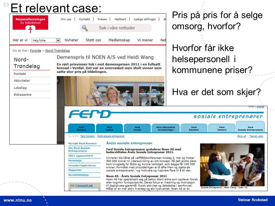 55 Steinar Krokstad Pris på pris for å selge omsorg, hvorfor.