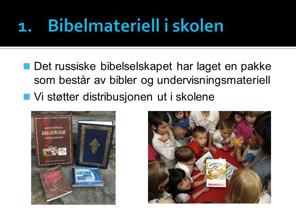 Det russiske bibelselskapet har laget en pakke som består av bibler og undervisningsmateriell Vi støtter distribusjonen ut i skolene