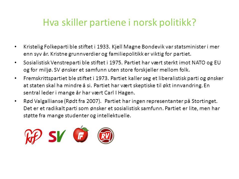 Kristelig Folkeparti ble stiftet i 1933. Kjell Magne Bondevik var statsminister i mer enn syv år. Kristne grunnverdier og familiepolitikk er viktig fo