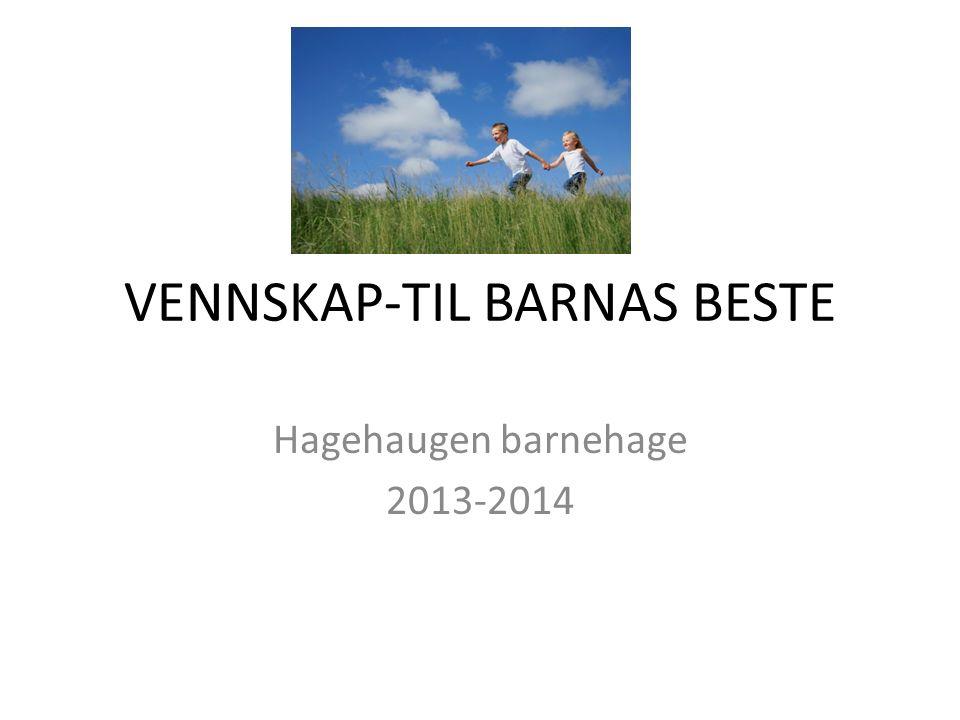 VENNSKAP-TIL BARNAS BESTE Hagehaugen barnehage 2013-2014