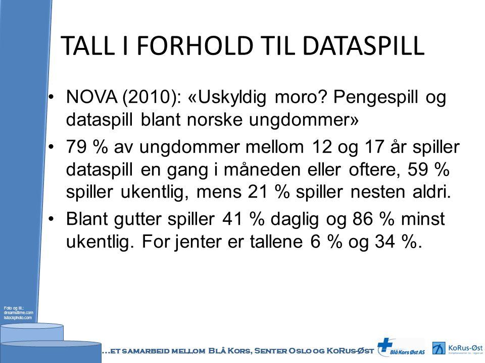 TALL I FORHOLD TIL DATASPILL NOVA (2010): «Uskyldig moro? Pengespill og dataspill blant norske ungdommer» 79 % av ungdommer mellom 12 og 17 år spiller
