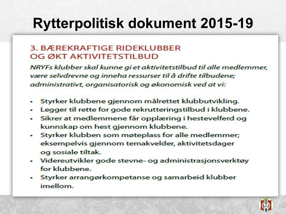 Rytterpolitisk dokument 2015-19
