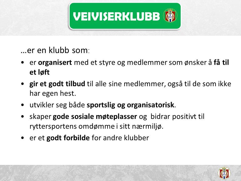 Omfang og tidsperspektiv Antall klubber i programmet.