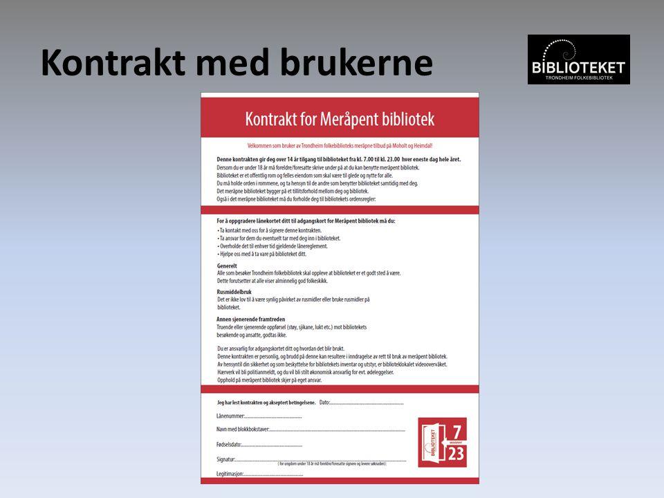 Kontrakt med brukerne