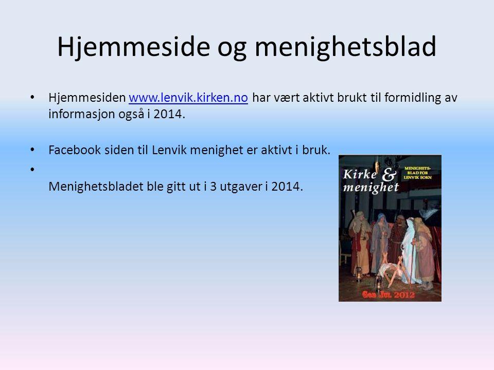 Hjemmeside og menighetsblad Hjemmesiden www.lenvik.kirken.no har vært aktivt brukt til formidling av informasjon også i 2014.www.lenvik.kirken.no Face