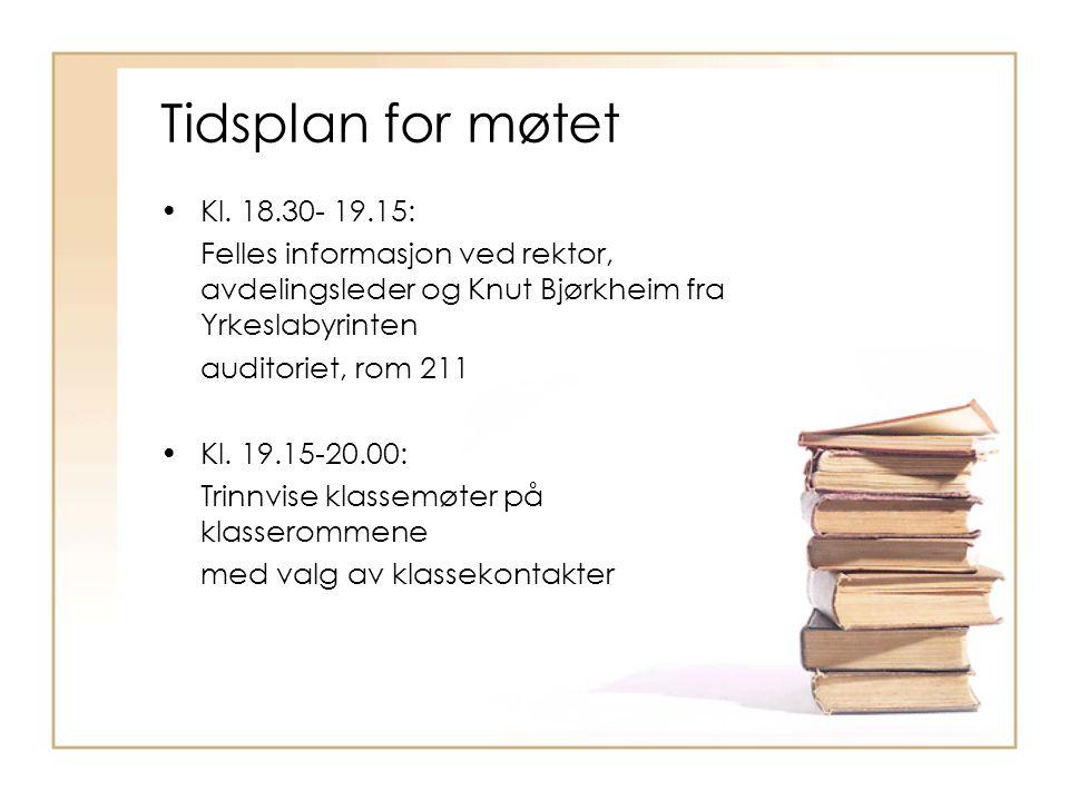 Saker:  Presentasjon av lærerne  Informasjon fra skolen  Permisjoner/fravær  Valgfag/utdanningsvalg  Årsplan  Rådsorgan ved skolen SU- SMU- FAU