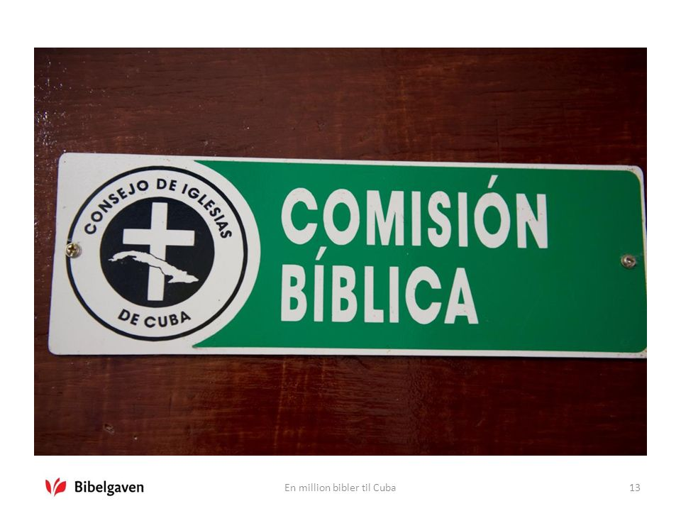 En million bibler til Cuba13