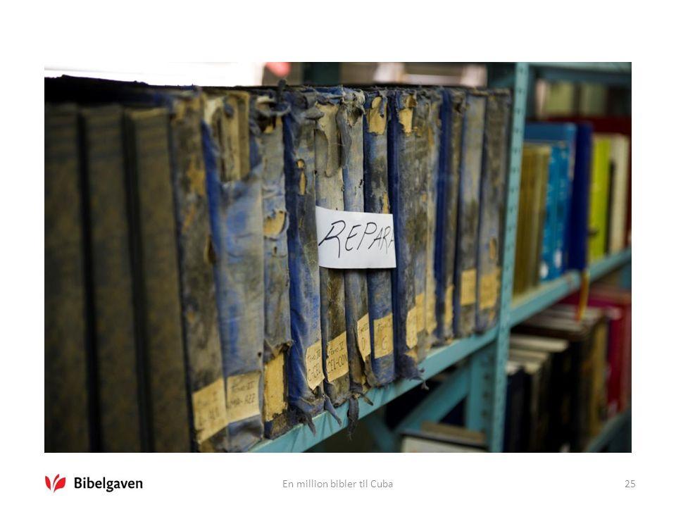 En million bibler til Cuba25