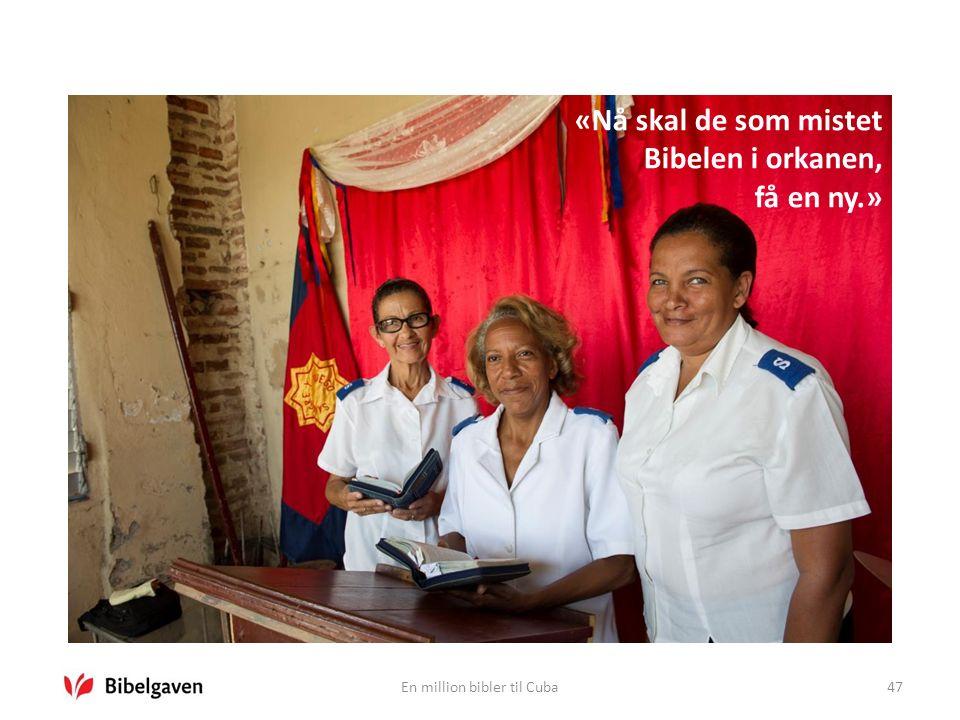 En million bibler til Cuba47 «Nå skal de som mistet Bibelen i orkanen, få en ny.»