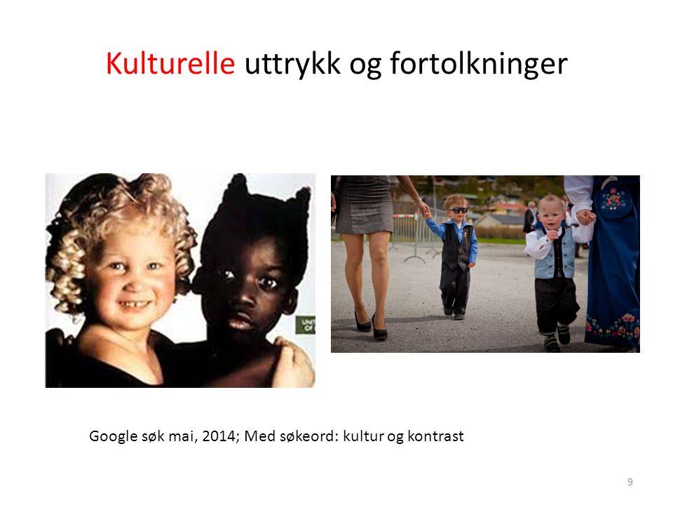 Kulturelle uttrykk og fortolkninger Google søk mai, 2014; Med søkeord: kultur og kontrast 9