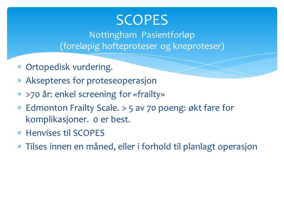  Ortopedisk vurdering.