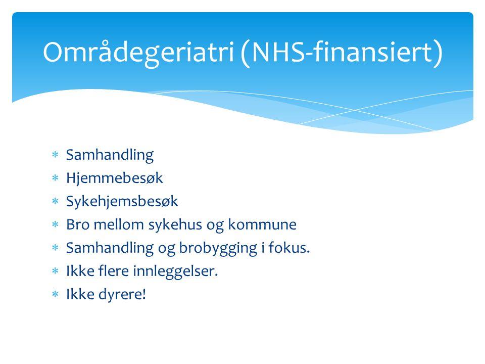  Samhandling  Hjemmebesøk  Sykehjemsbesøk  Bro mellom sykehus og kommune  Samhandling og brobygging i fokus.