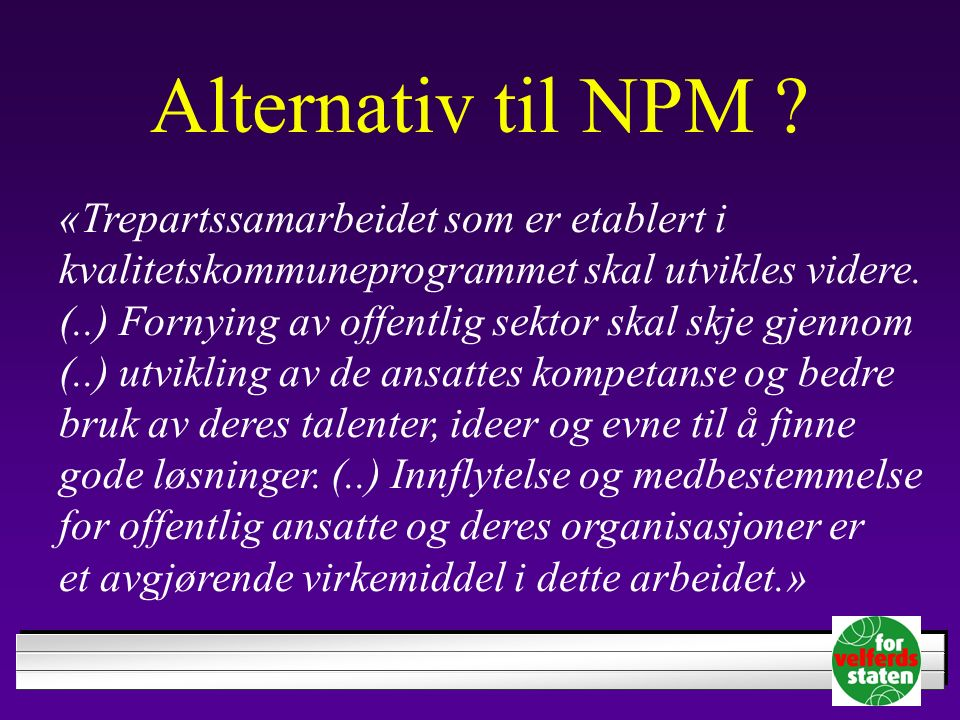 Alternativ til NPM .