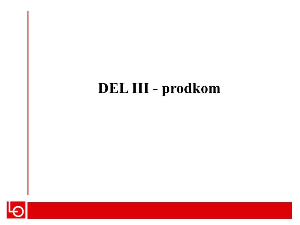 DEL III - prodkom