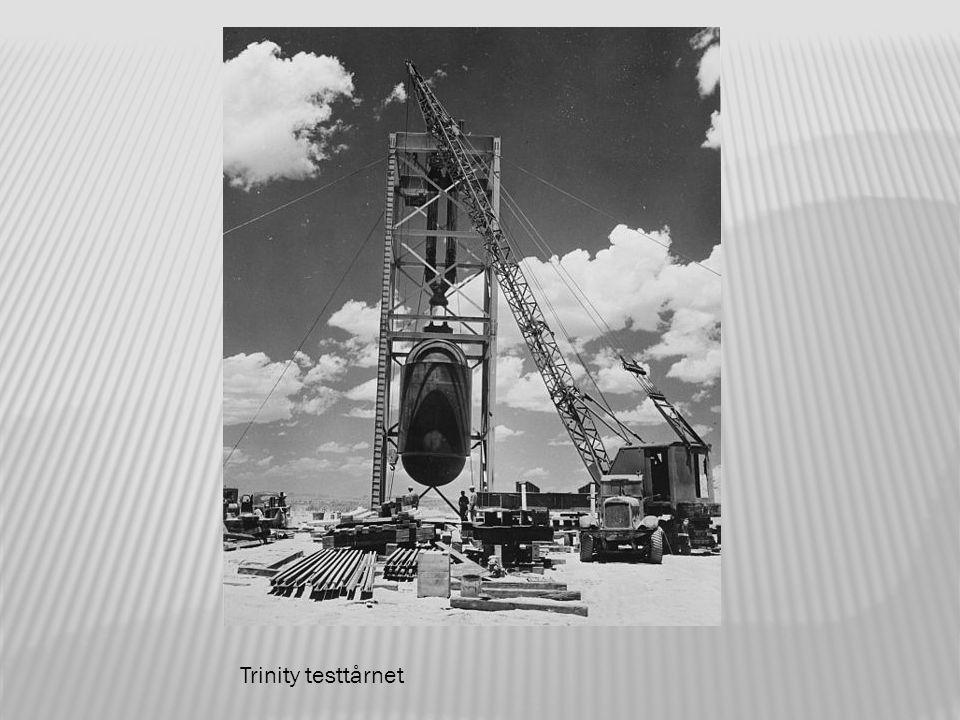 Trinitybomben blir heist opp i testtårnet.