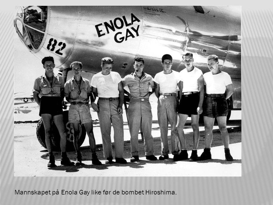 De planlagte flyrutene til Hiroshima og Nagasaki.