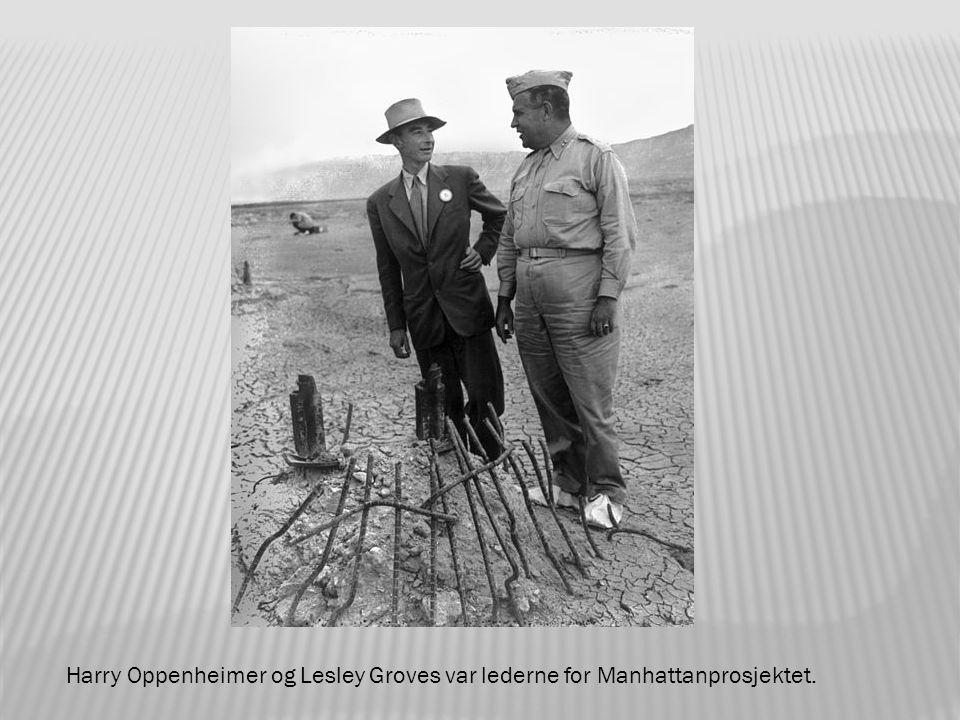 Harry Oppenheimer og Lesley Groves var lederne for Manhattanprosjektet.