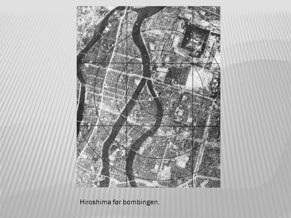 Hiroshima blir truffet av atombomben.