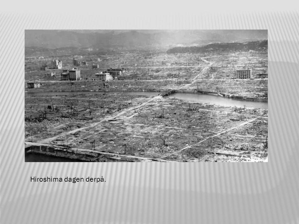 Hiroshima like etter bombingen.
