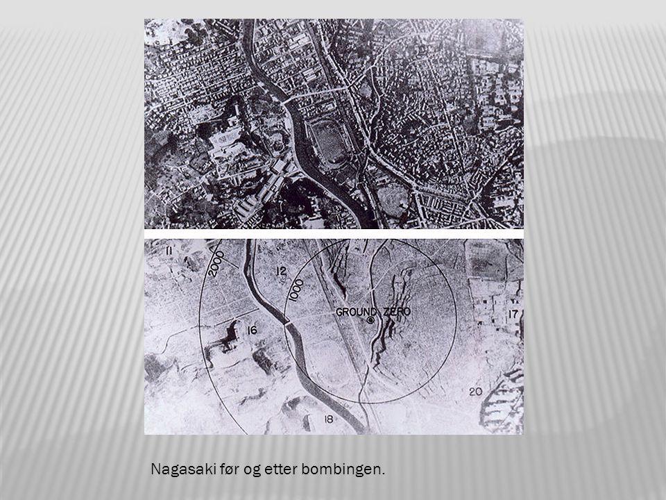 Atombomben over Nagasaki.