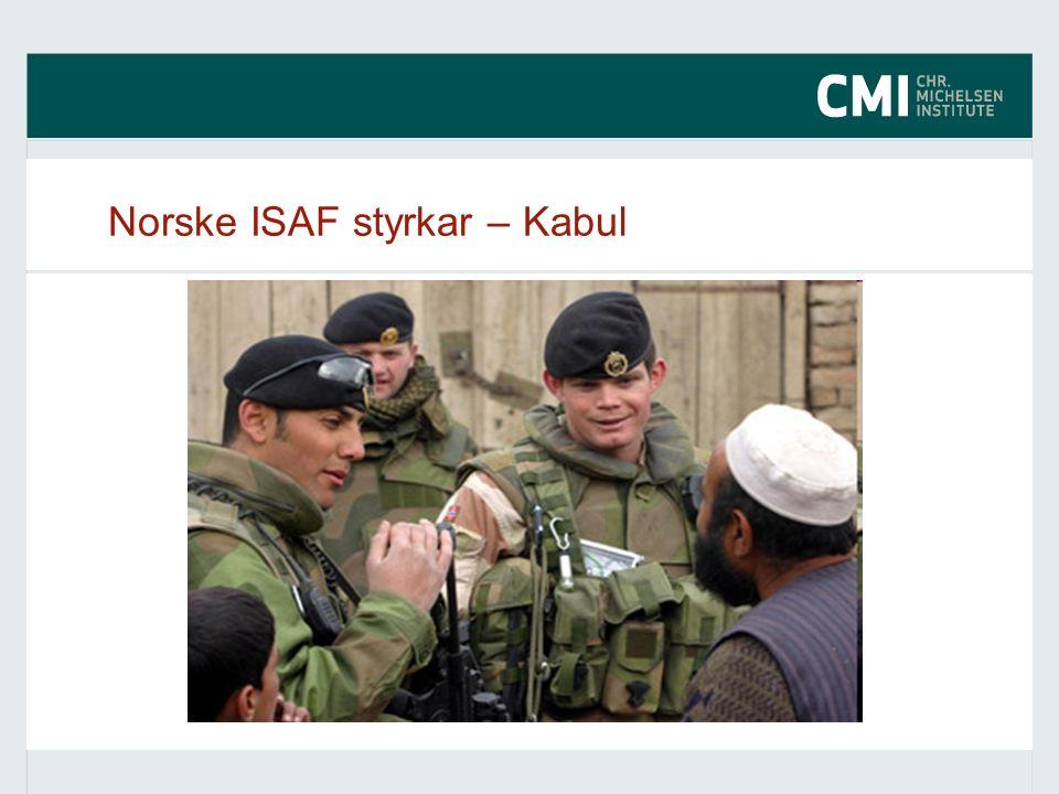 Norske ISAF styrkar – Kabul