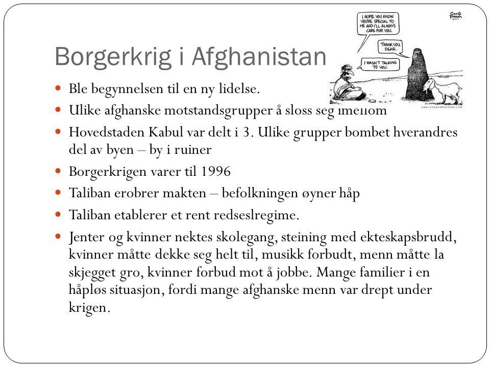 Borgerkrig i Afghanistan Ble begynnelsen til en ny lidelse.