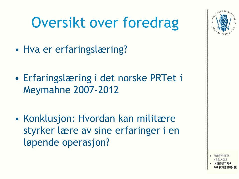 Lærdommer.Comprehensive approach. –Hvordan implementere den norske modellen.