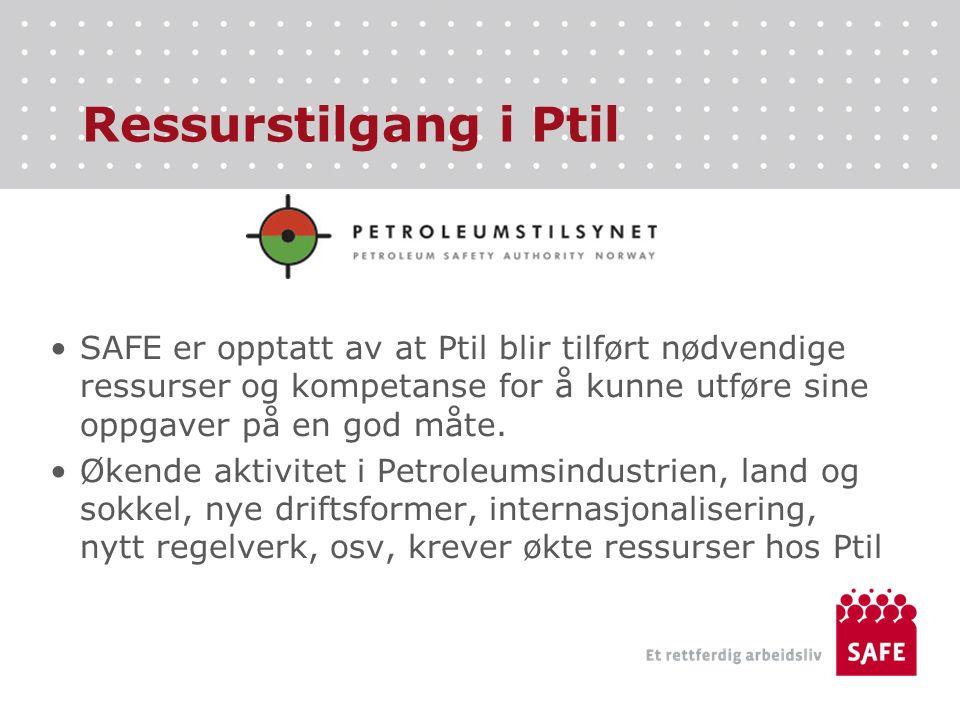 Ressurstilgang i Ptil SAFE er opptatt av at Ptil blir tilført nødvendige ressurser og kompetanse for å kunne utføre sine oppgaver på en god måte.