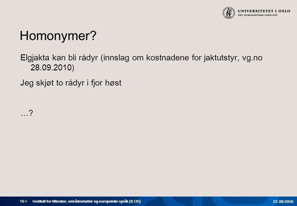 15 > Homonymer.