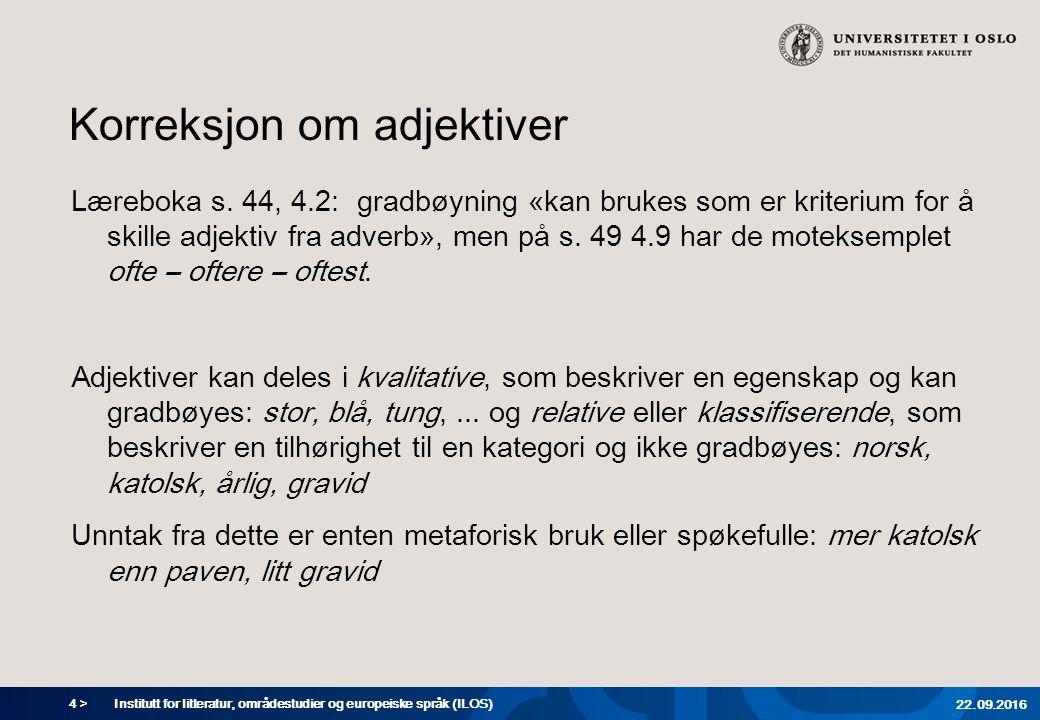 4 > Korreksjon om adjektiver Læreboka s.