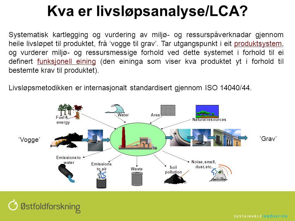 Kva er livsløpsanalyse/LCA.