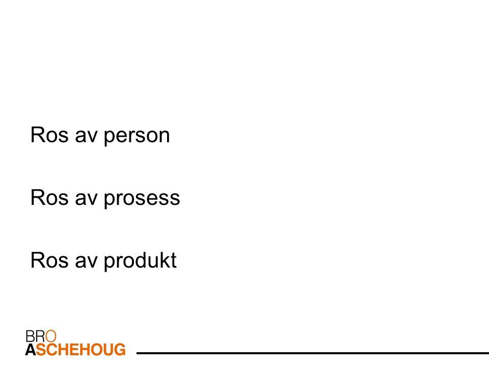 Ros av person Ros av prosess Ros av produkt