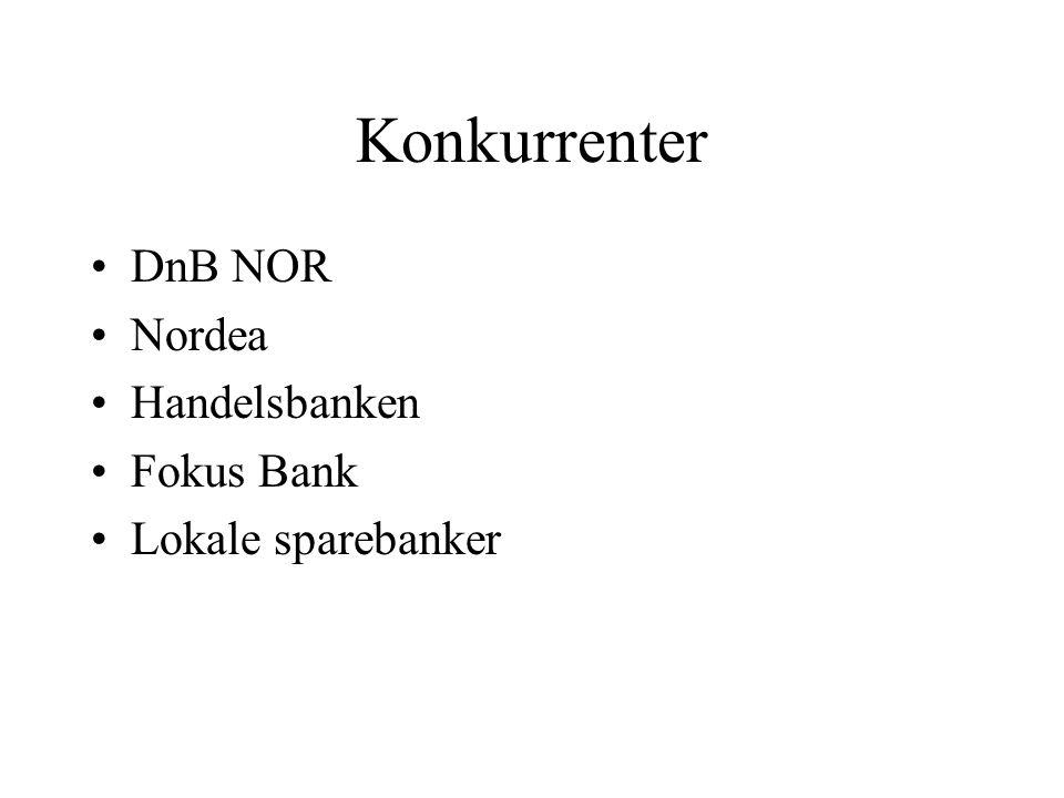 Konkurrenter DnB NOR Nordea Handelsbanken Fokus Bank Lokale sparebanker