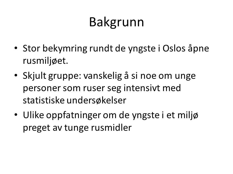 Bakgrunn Stor bekymring rundt de yngste i Oslos åpne rusmiljøet.