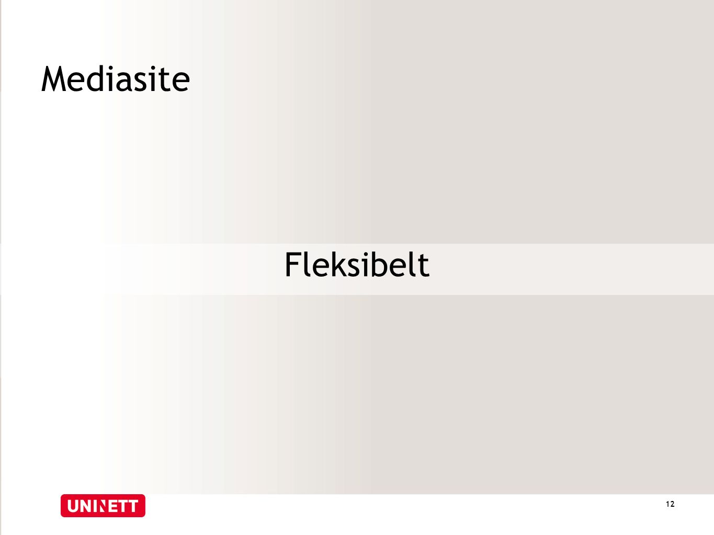 Mediasite Fleksibelt 12