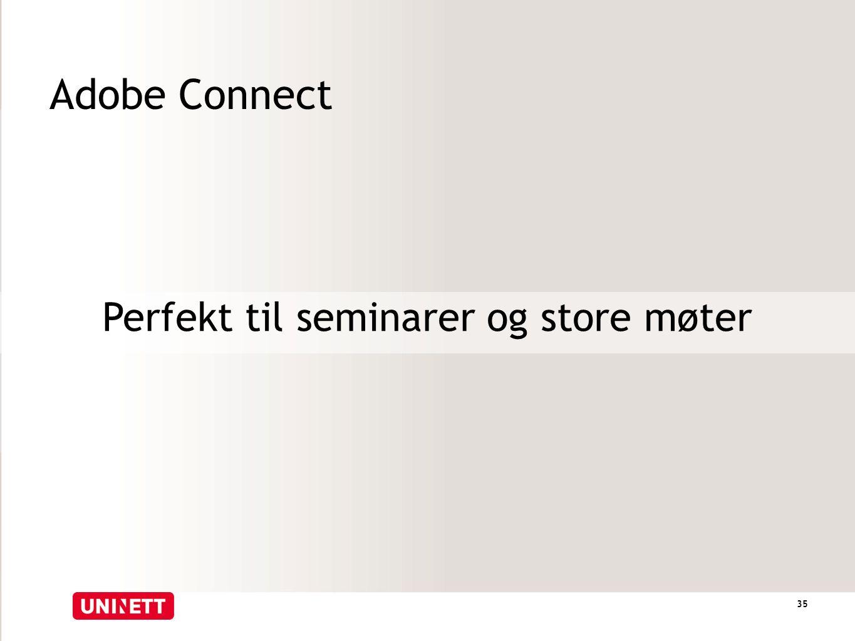 Adobe Connect Perfekt til seminarer og store møter 35