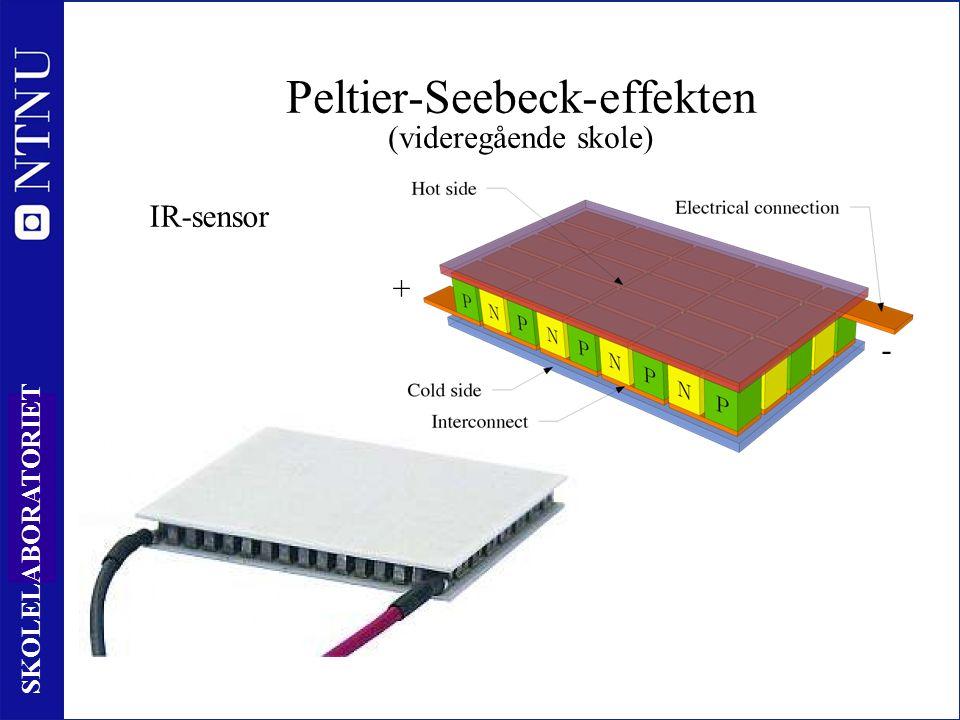 31 SKOLELABORATORIET Peltier-Seebeck-effekten (videregående skole) + - IR-sensor