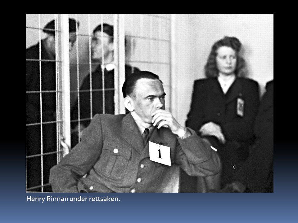 Henry Rinnan under rettsaken.