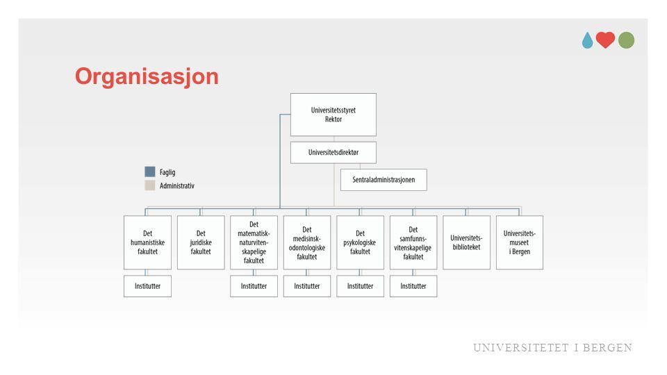 Organisasjon UNIVERSITETET I BERGEN
