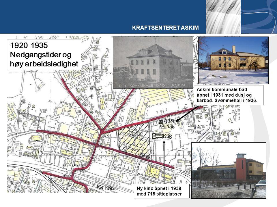 KRAFTSENTERET ASKIM Askim kommunale bad åpnet i 1931 med dusj og karbad.