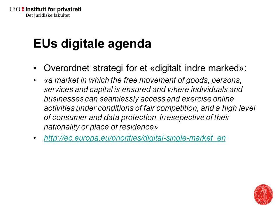 Formål Utnytte teknologien til å: Styrke samhandelen over landegrensene Øke konkurranseevnen