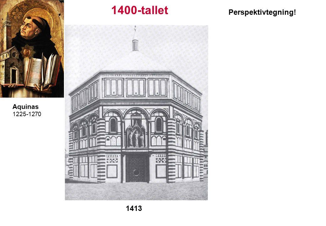 1400-tallet Aquinas 1225-1270 1413 Perspektivtegning!