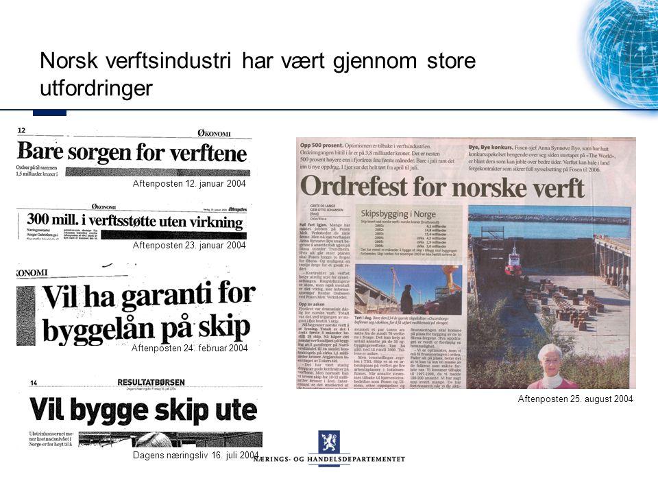 Norsk verftsindustri har vært gjennom store utfordringer Aftenposten 25.