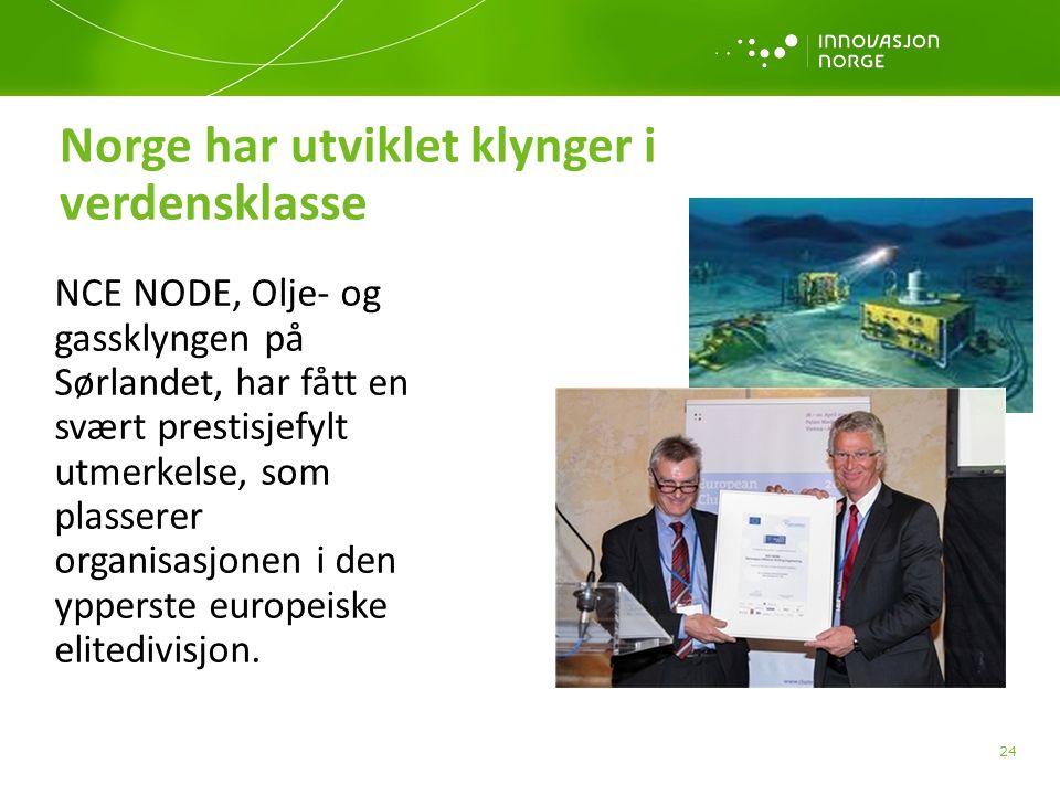 NCE NODE, Olje- og gassklyngen på Sørlandet, har fått en svært prestisjefylt utmerkelse, som plasserer organisasjonen i den ypperste europeiske elitedivisjon.