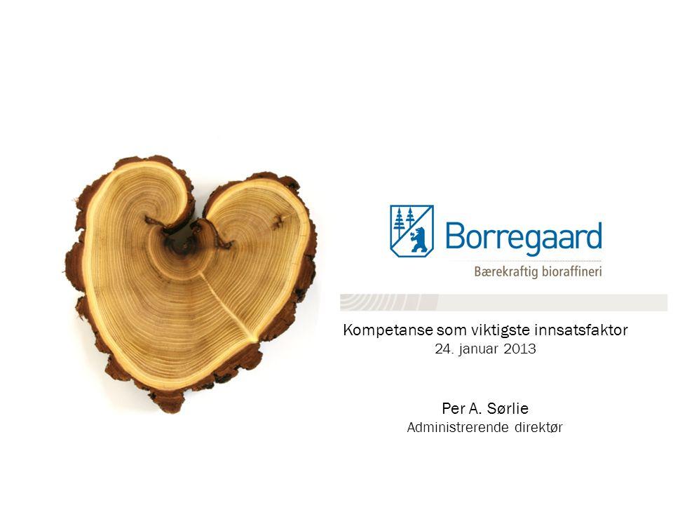 Kompetanse som viktigste innsatsfaktor 24. januar 2013 Per A. Sørlie Administrerende direktør